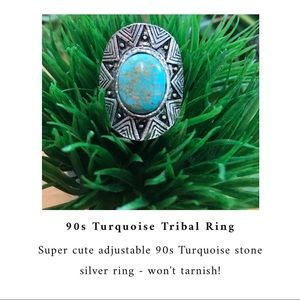 💙90's Turquoise Tribal Ring💙